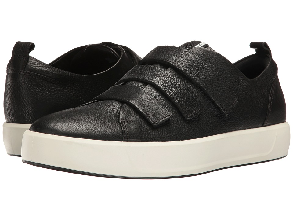 ECCO - Soft 8 3-Strap (Black) Men's Slip on  Shoes