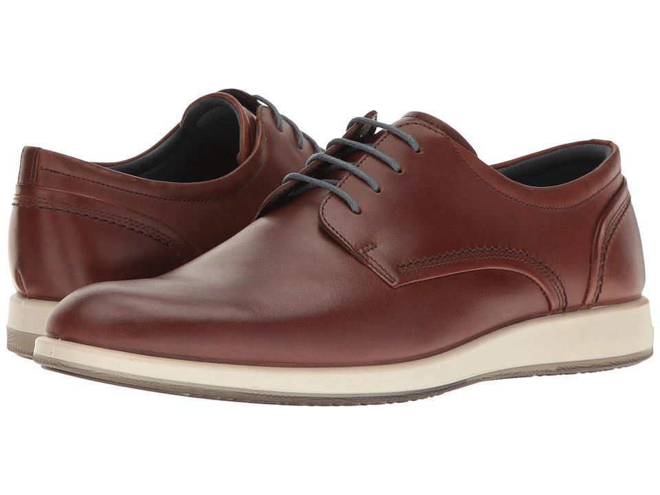 Ecco Jared Tie (Cognac) Men's  Shoes