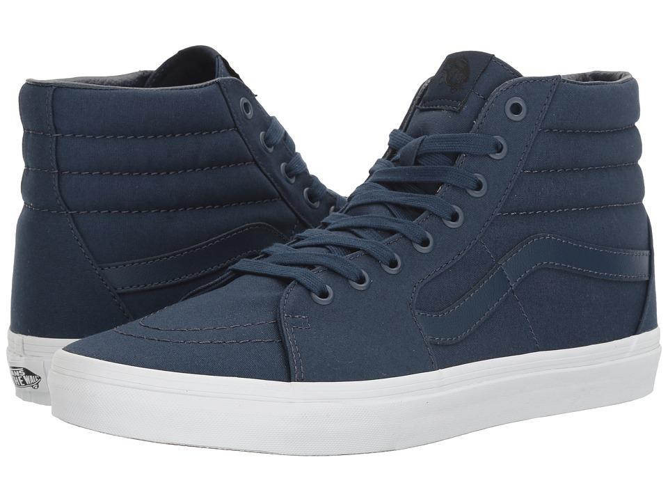 Vans - SK8-Hi ((Mono Canvas) Dress Blues/True White) Skate Shoes