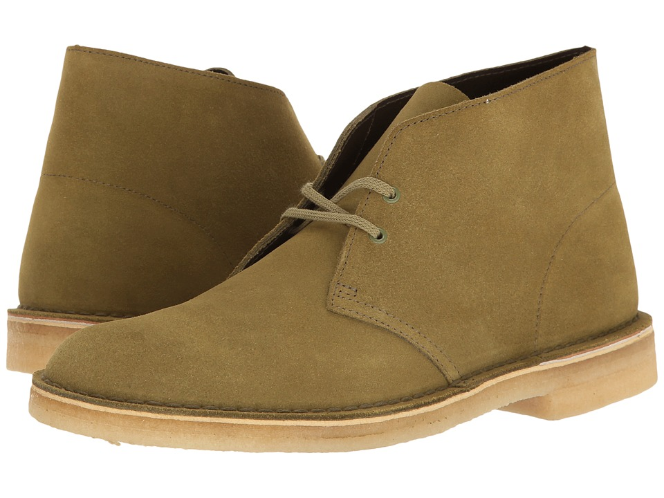 Clarks Desert Boot (Forest Green Suede) Men