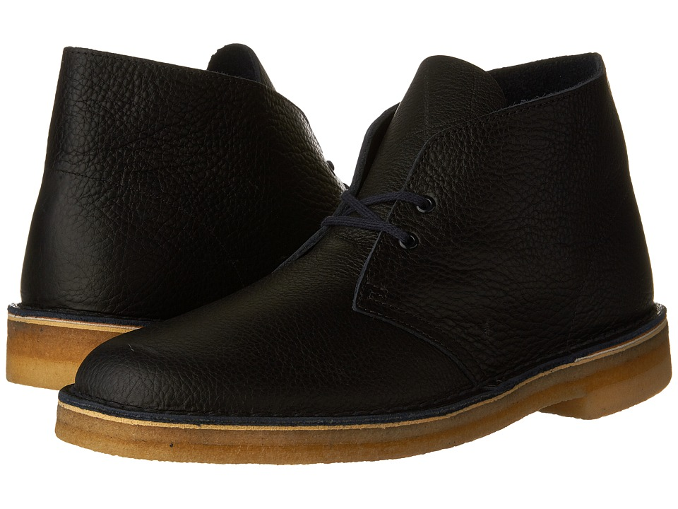 Clarks Desert Boot (Navy Tumbled Leather) Men