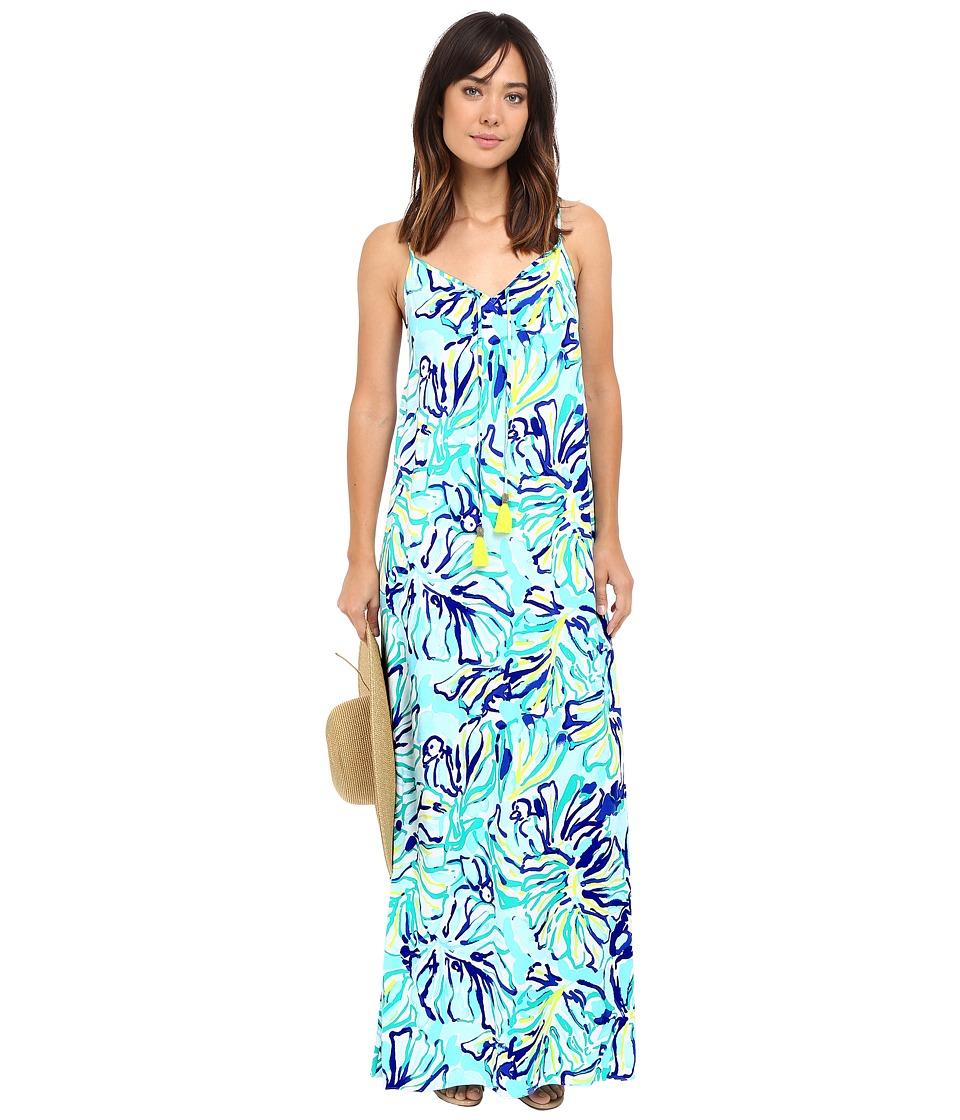 Lilly Pulitzer Philomena Maxi Dress (Pool Blue Stay Cool) Women