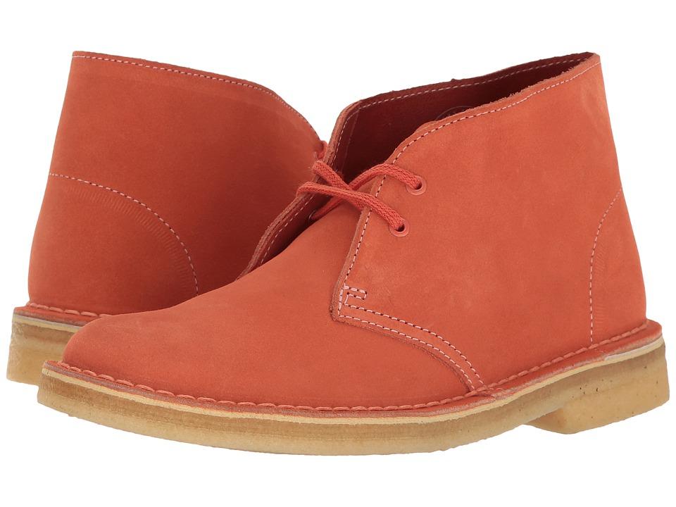 Clarks Desert Boot (Light Coral Nubuck) Women