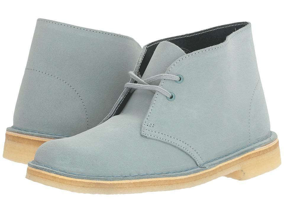 Clarks Desert Boot (Blue/Grey Nubuck) Women