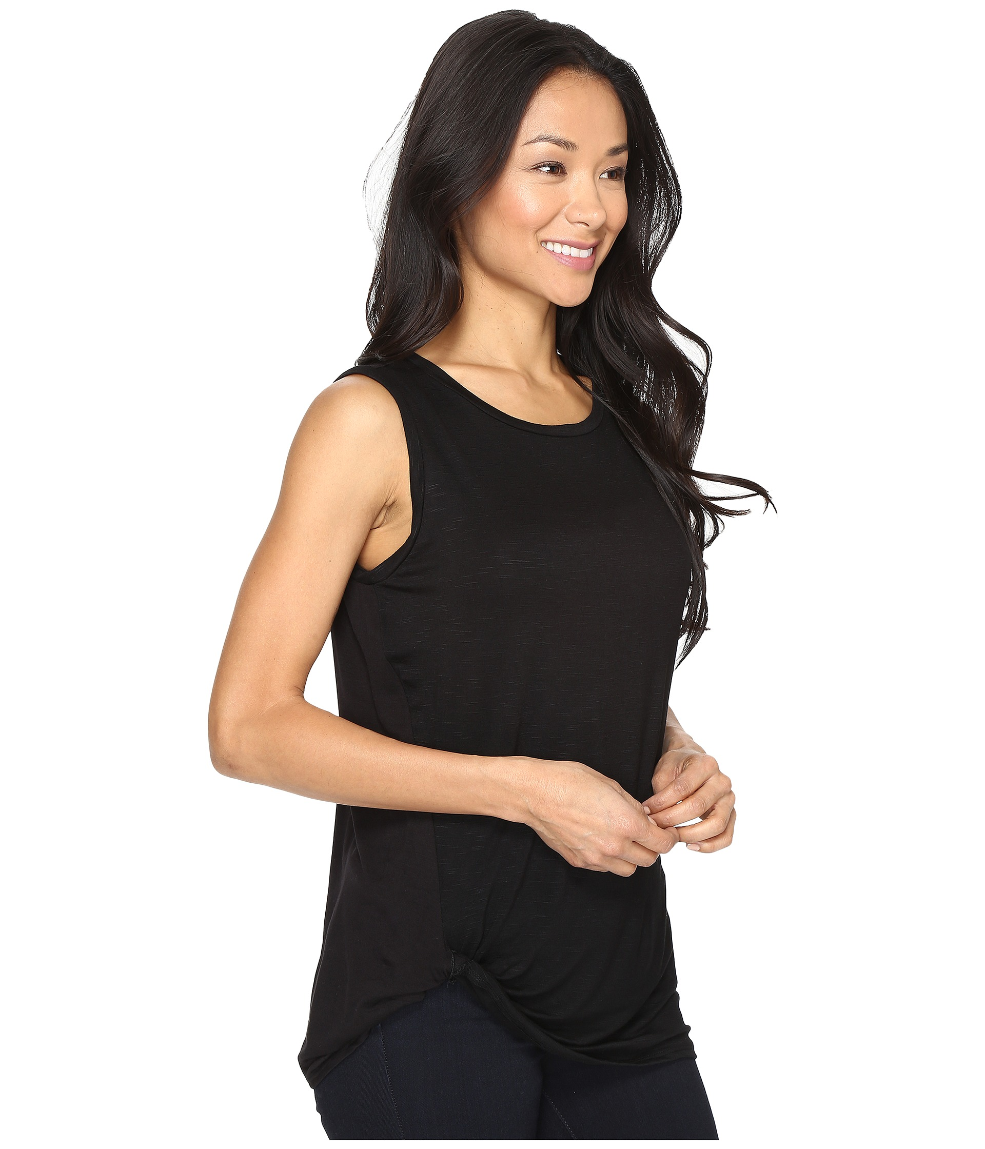 b collection by bobeau side knot tank top