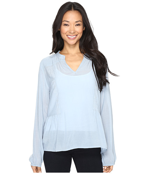 B Collection by Bobeau Meli Embossed Blouse - Light Blue