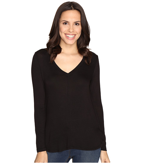 B Collection by Bobeau Alice Long Sleeve Tee - Black