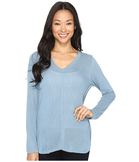 B Collection by Bobeau Alice Long Sleeve Tee - Blue