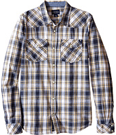 Lucky Brand Kids - Snap Front Western Plaid Woven Shirt w/ Front Chest Pockets (Big Kids)