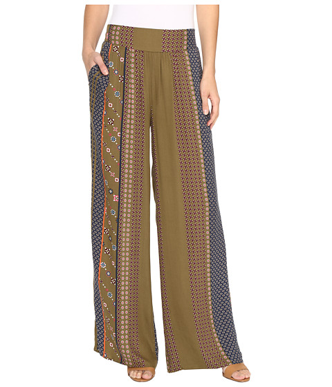 B Collection by Bobeau Arden Palazzo Pants - Blue Print