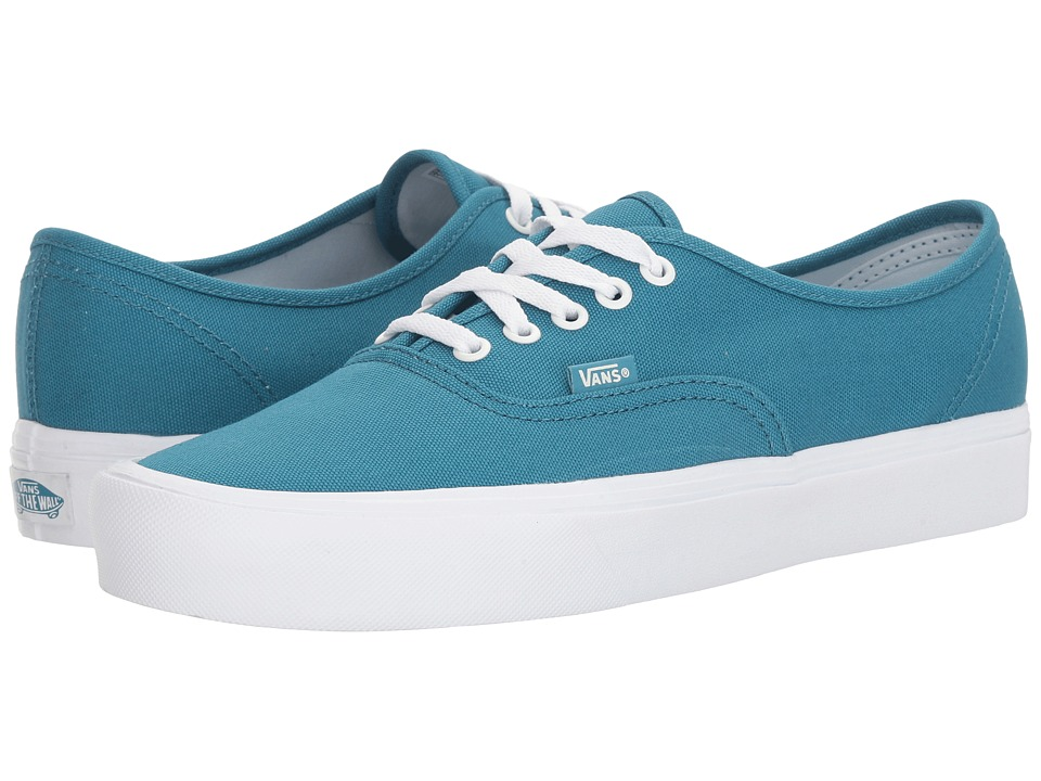 Vans Authentic Lite ((Canvas) Larkspur/True White) Skate Shoes
