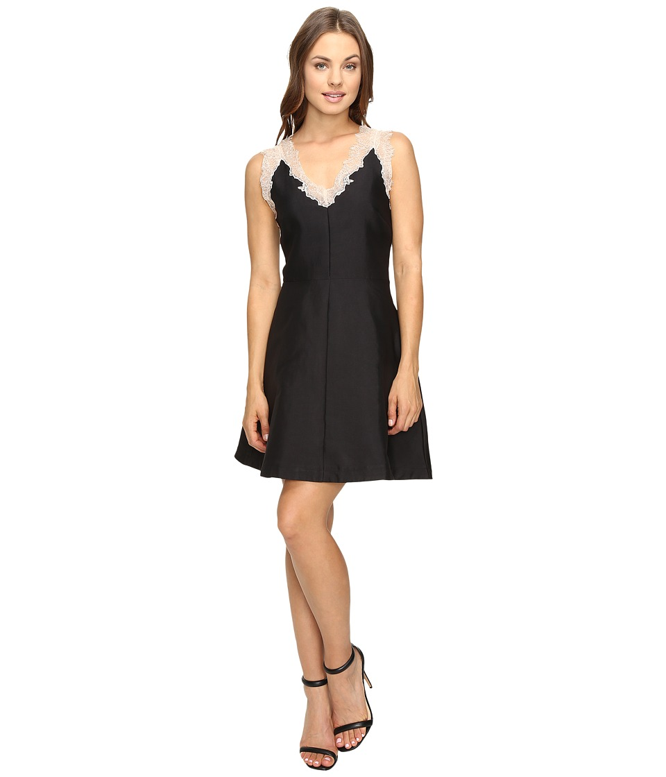 Image of Adelyn Rae - Fit and Flare with Lace Details (Black) Women's Dress