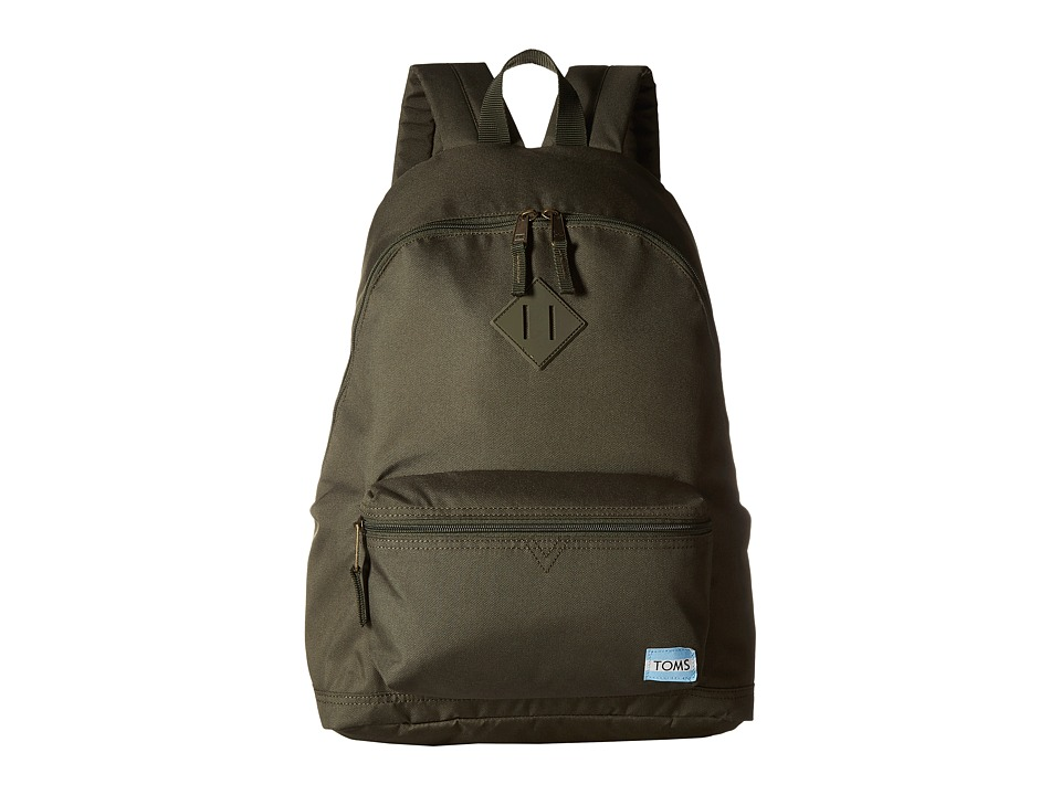 TOMS Local Backpack (Olive Nylon) Backpack Bags