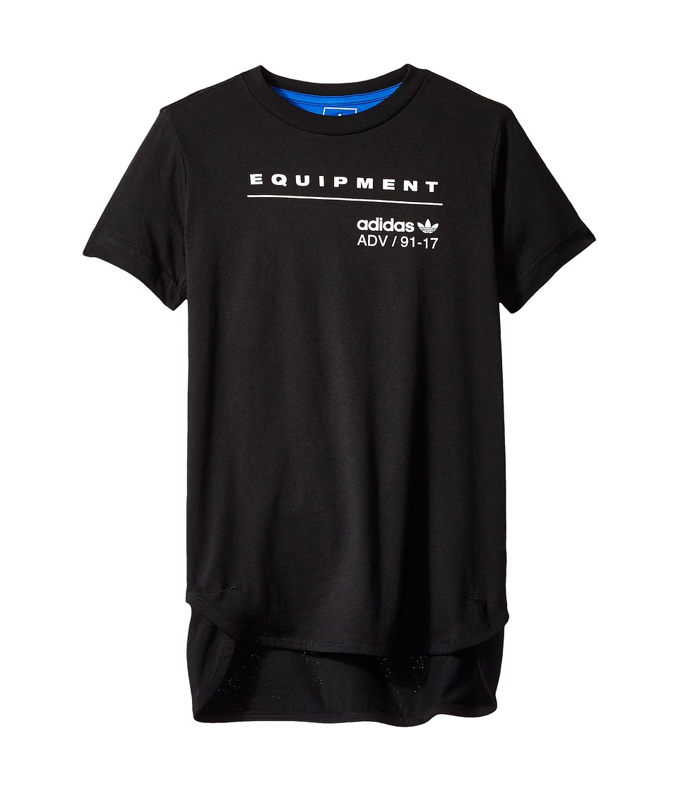 adidas Originals Kids EQT L Tee (Toddler/Little Kids/Big Kids) (Black/Blue) Boy