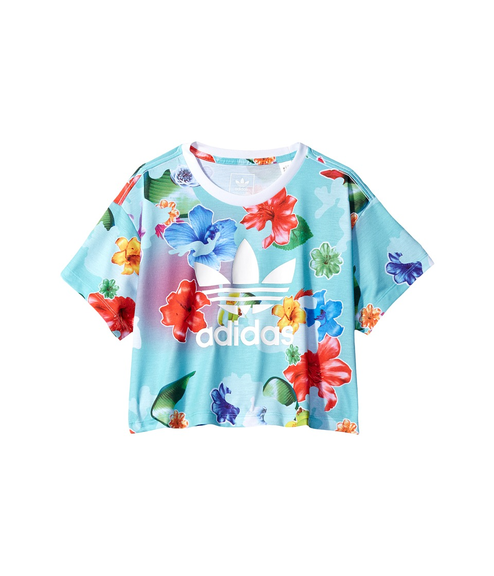 adidas Originals Kids Flower C Tee (Toddler/Little Kids/Big Kids) (Multicolor/White) Girl
