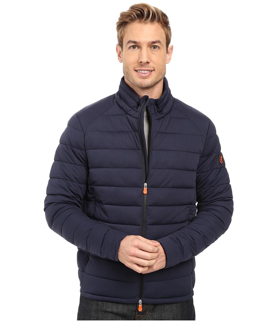 Save the Duck - Puffer Stretch Jacket (Navy Melange) Mens Coat