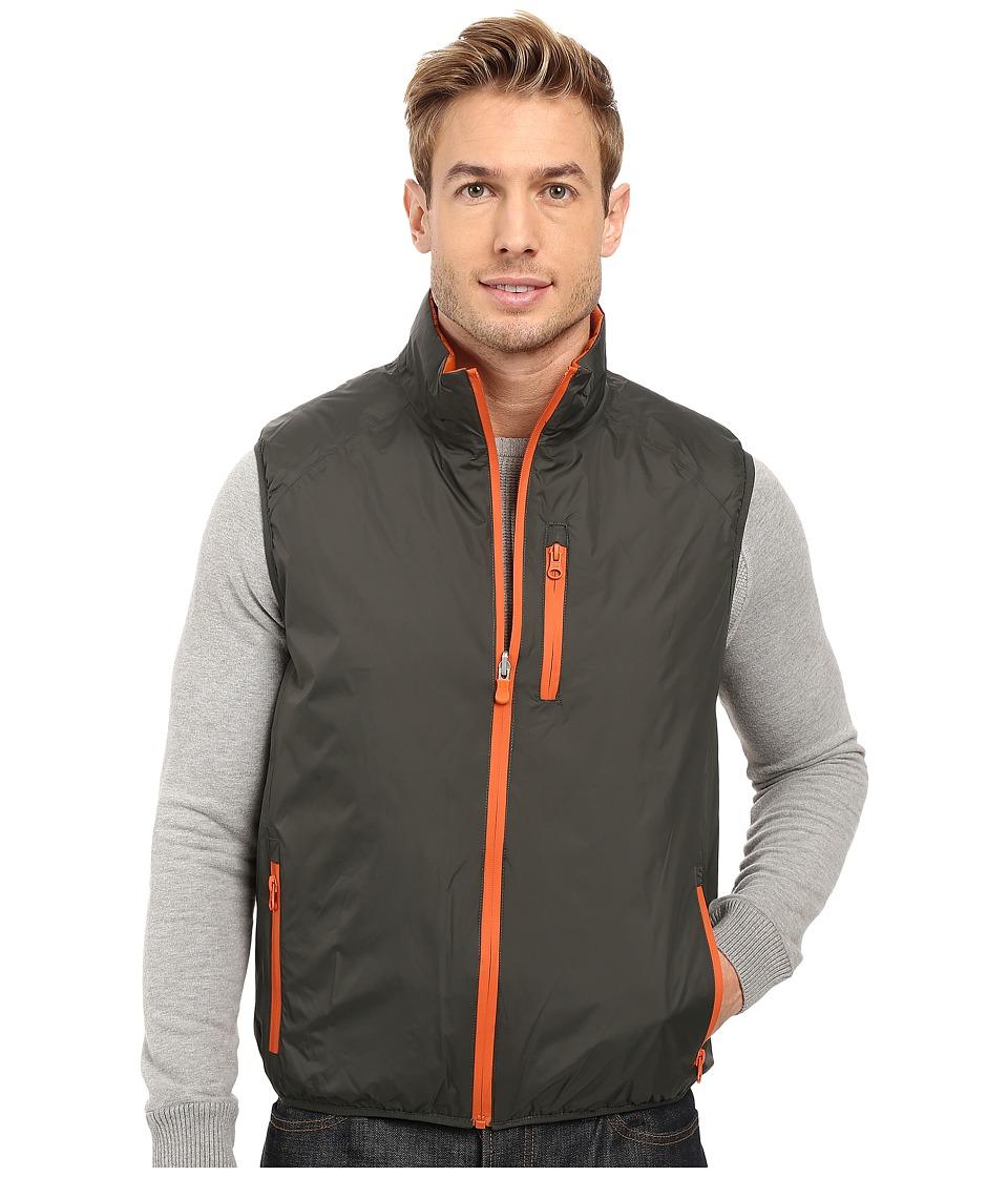Save the Duck - Milk Reversible Vest (Dark Green/Apricot) Mens Vest