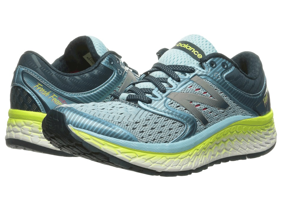New Balance Fresh Foam 1080v7 (Ozone Blue Glo/Lime Glo) Women