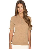 Cashmere In Love - Trina Fine Knit Polo w/ Lurex Detail