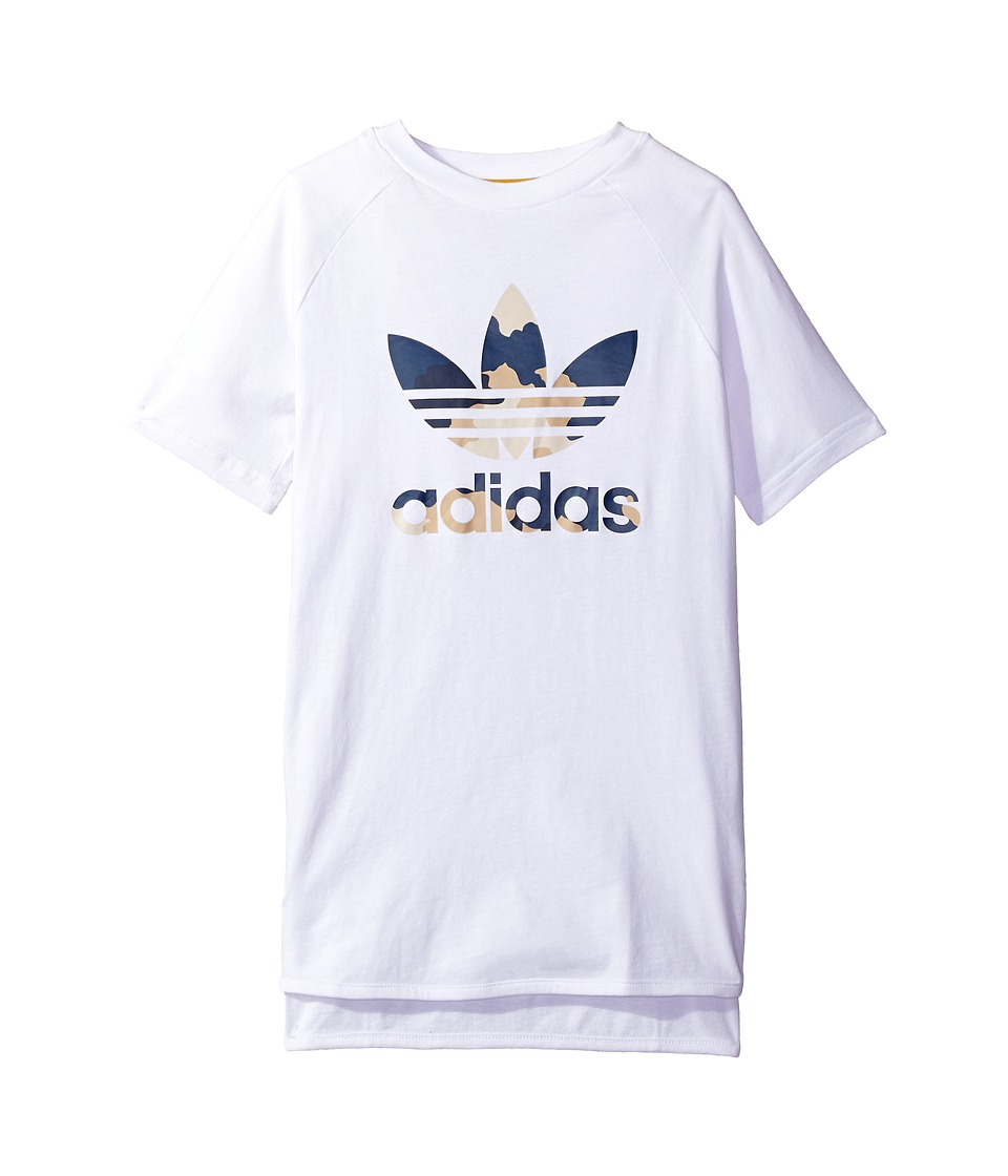 adidas Originals Kids Tko L Tee (Toddler/Little Kids/Big Kids) (White) Boy