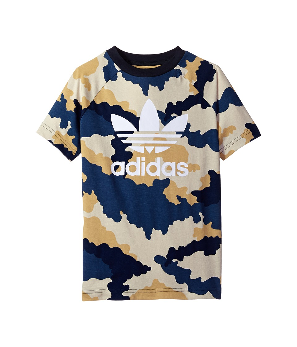 adidas Originals Kids Tko Aop Tee (Toddler/Little Kids/Big Kids) (Multicolor/White) Boy