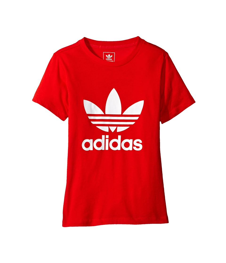 adidas Originals Kids Trefoil Tee G (Toddler/Little Kids/Big Kids) (Core Red/White) Boy