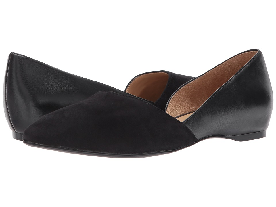 Naturalizer Samantha (Black Leather) Flats