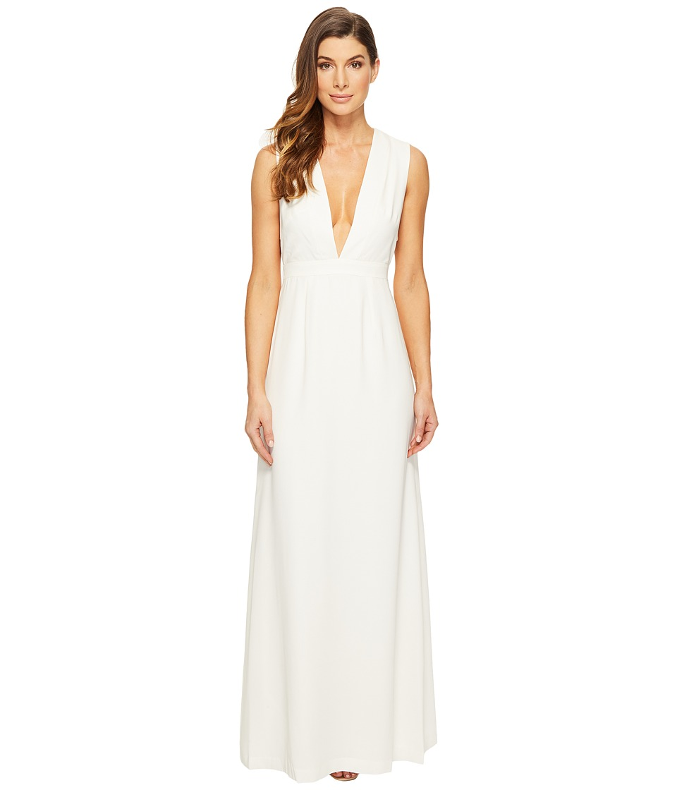 JILL JILL STUART JILL JILL STUART - Sleeveless Deep-V Side Cut Out Satin Back Crepe Gown