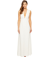 JILL JILL STUART - Sleeveless Deep-V Side Cut Out Satin Back Crepe Gown