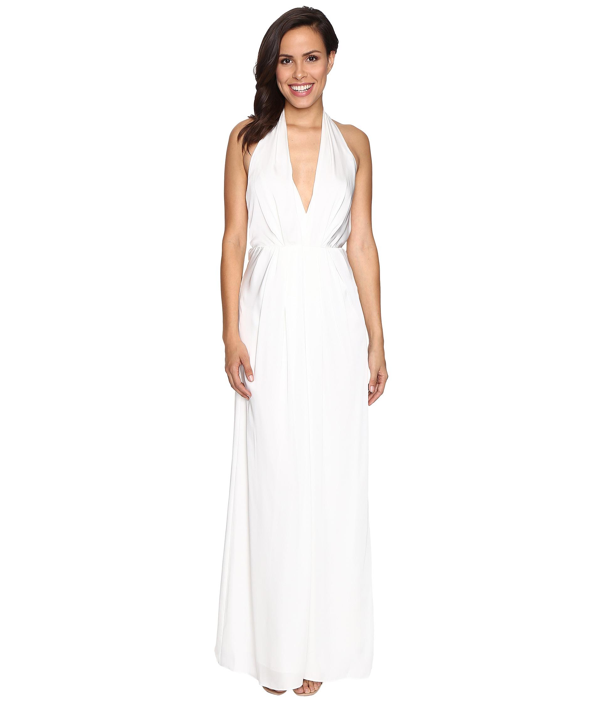 White Halter Dress- Clothing- White - Shipped Free at Zappos