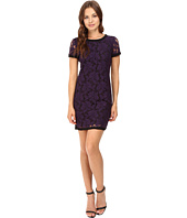 Donna Morgan - Short Sleeve Easy Shift Lace Dress with Combo