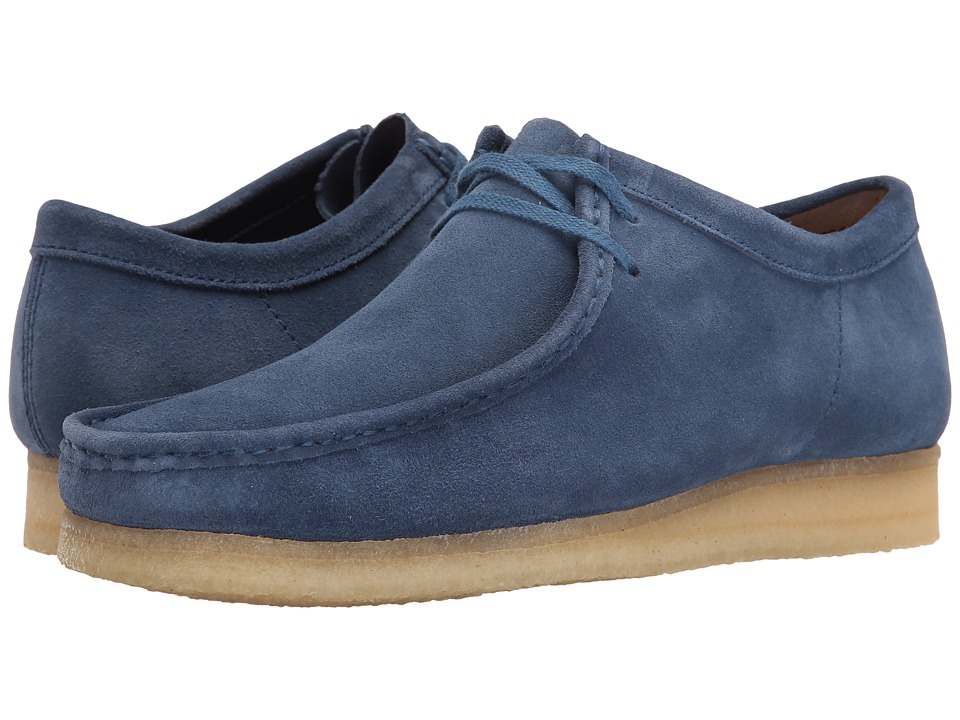 Clarks Wallabee (Night Blue Suede) Men