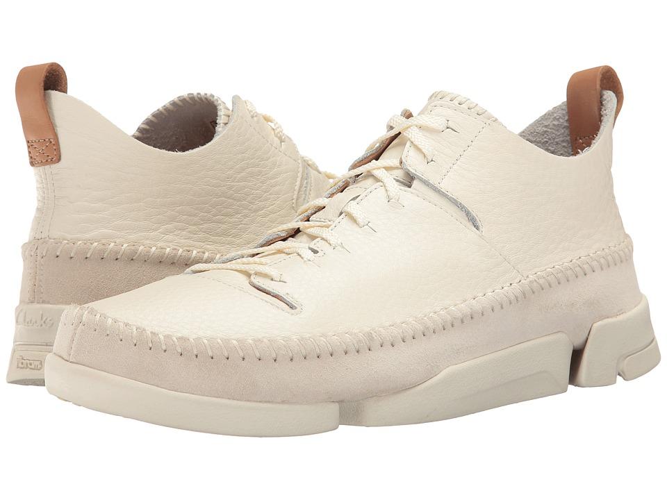 Clarks Trigenic Flex (White Leather) Men's Shoes