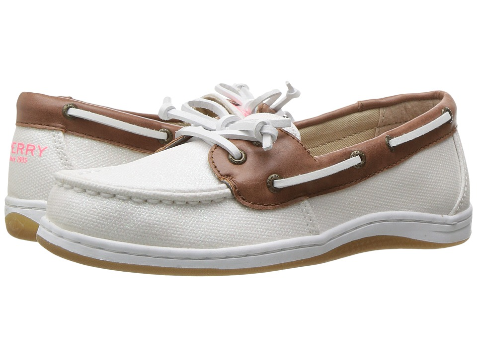 Sperry Kids - Firefish (Little Kid/Big Kid) (White Sparkle) Girls Shoes