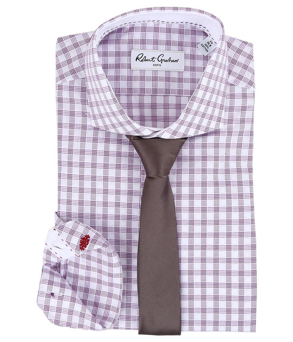 Robert Graham Mimo Dress Shirt (Lavender) Men's Long Slee...