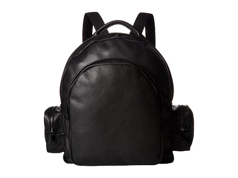 Gold & Gravy Leather Backpack - Black