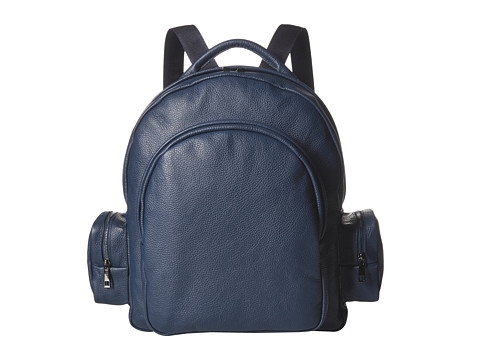 Gold & Gravy Leather Backpack - Navy