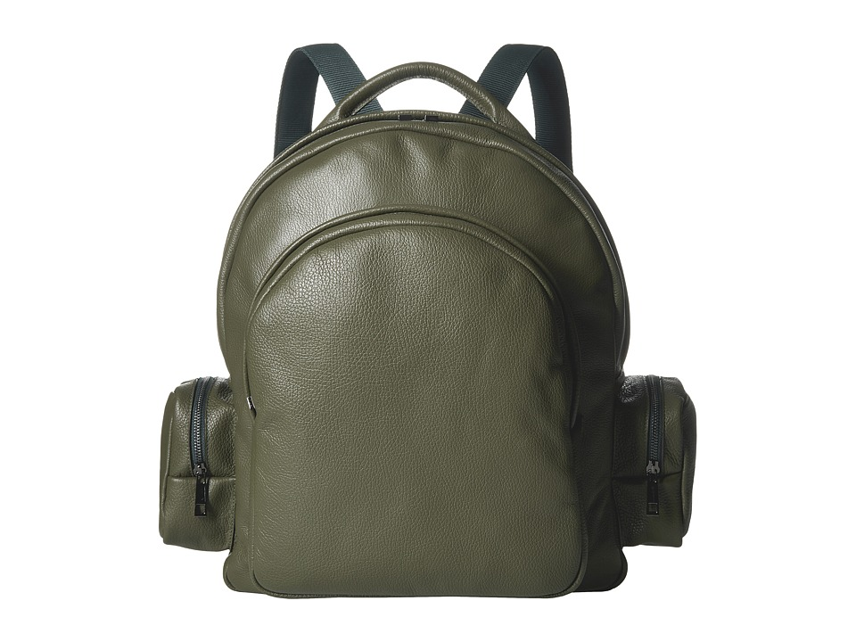 Gold & Gravy - Leather Backpack (Military Green) Backpack Bags