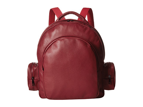Gold & Gravy Leather Backpack - Red