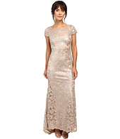 Calvin Klein - Short Sleeve Lace Sequin Gown CD6B1X6Q