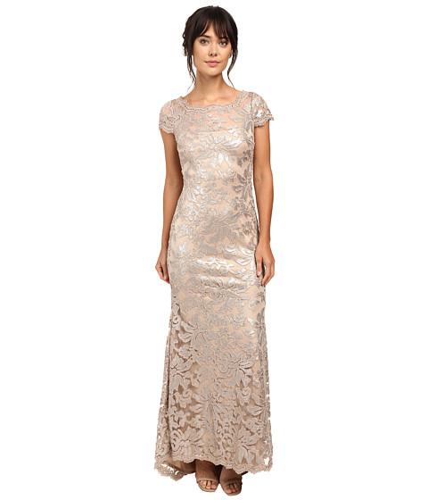 Calvin Klein Short Sleeve Lace Sequin Gown CD6B1X6Q