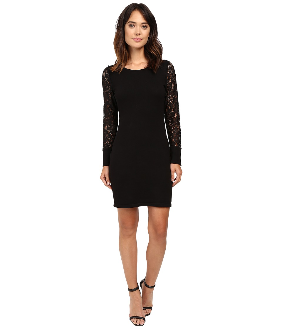 Calvin Klein - Lace Sleeve Sweater CD6W1673 (Black) Women