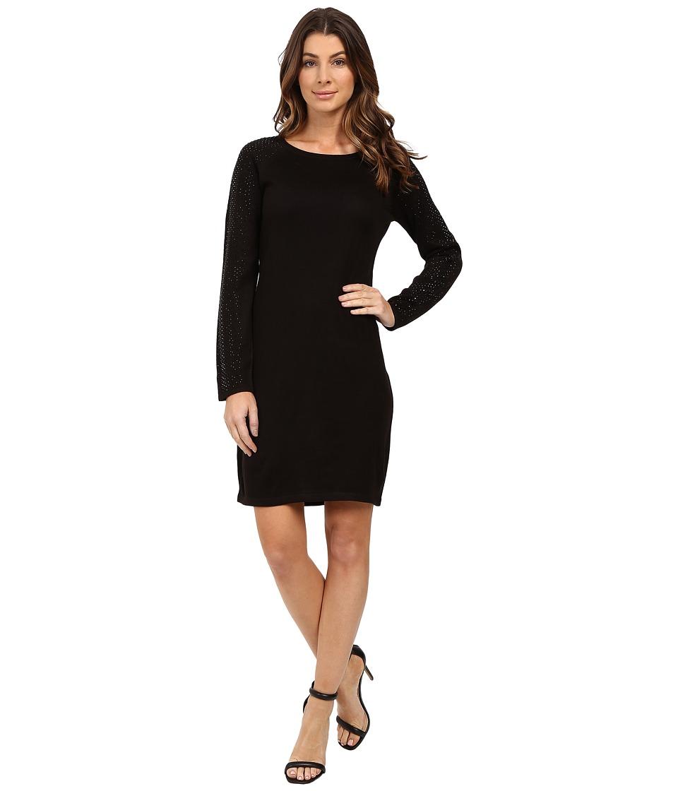 Calvin Klein Long Sleeve Sweater with Hot Fix CD6W1181 (Black) Women