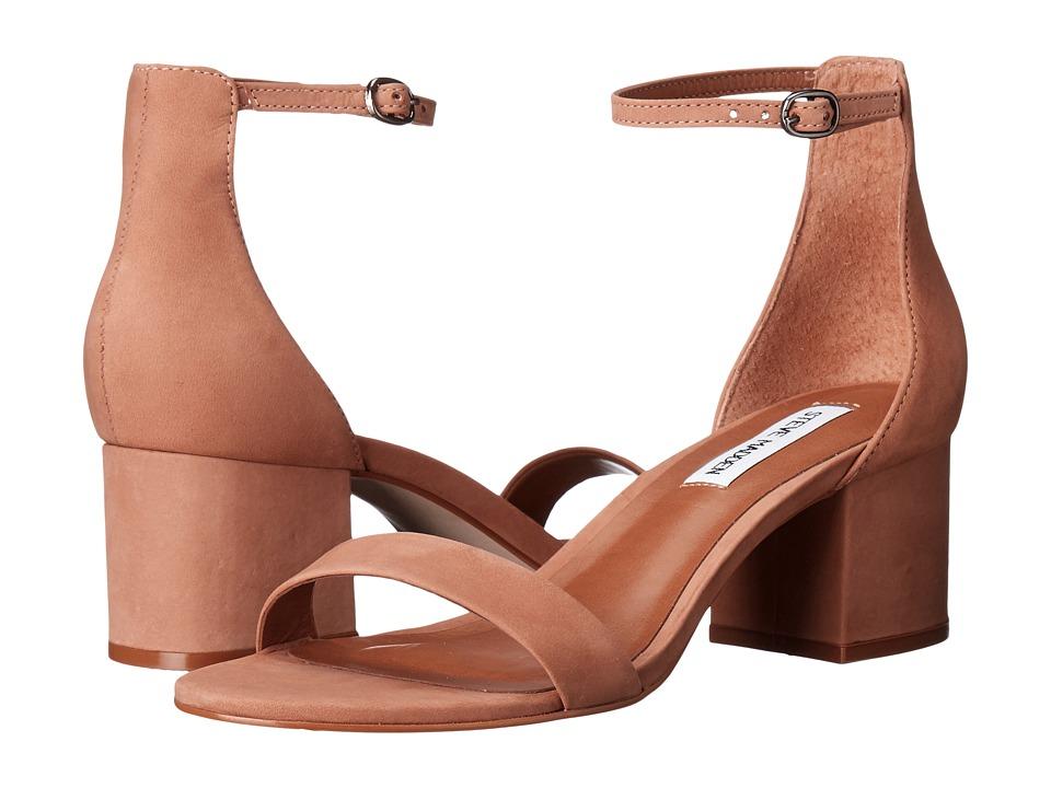 Steve Madden Irenee Sandal (Tan Nubuck) 1-2 inch heel Shoes