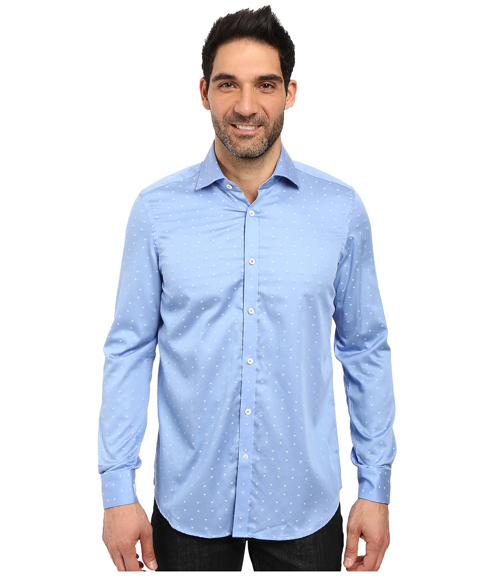Robert Graham - Igor Dress Shirt (Blue) Mens Long Sleeve Button Up