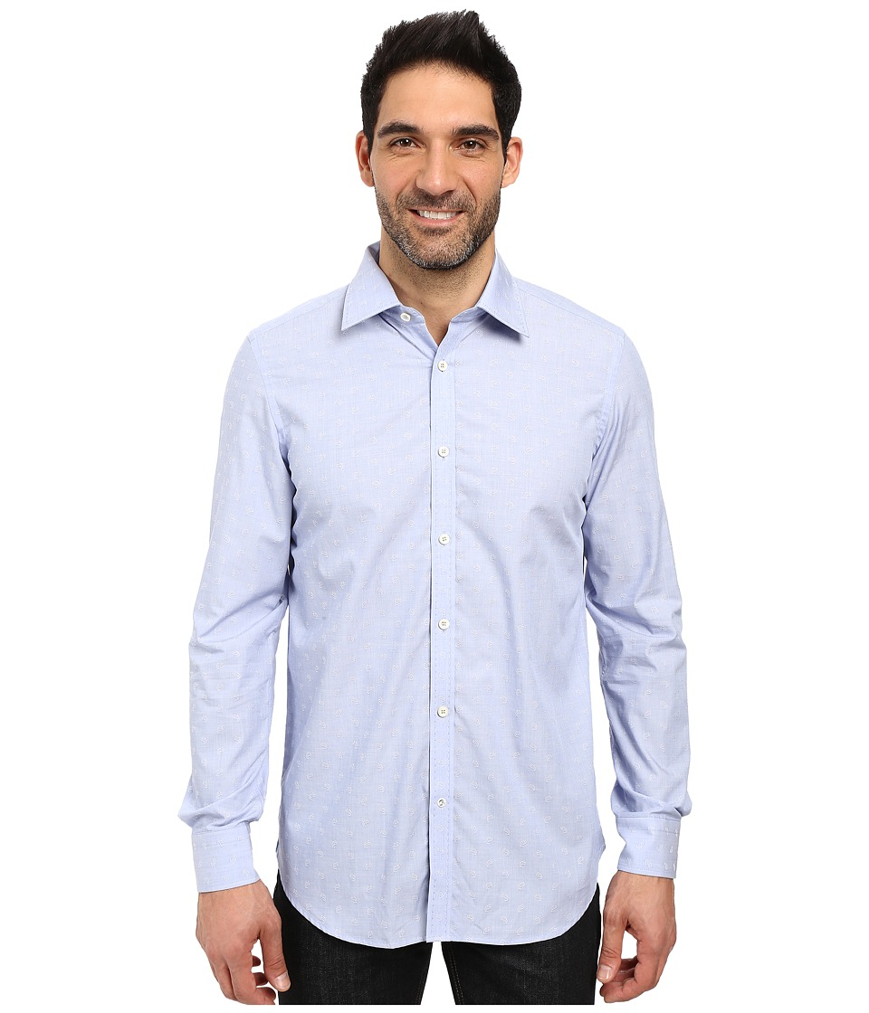 Robert Graham - Banjo Dress Shirt (Blue) Mens Long Sleeve Button Up