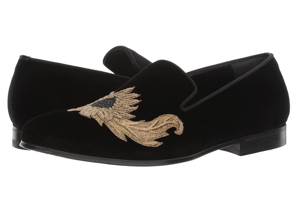 Alexander McQueen Embroidered Evening Slipper (Black) Men