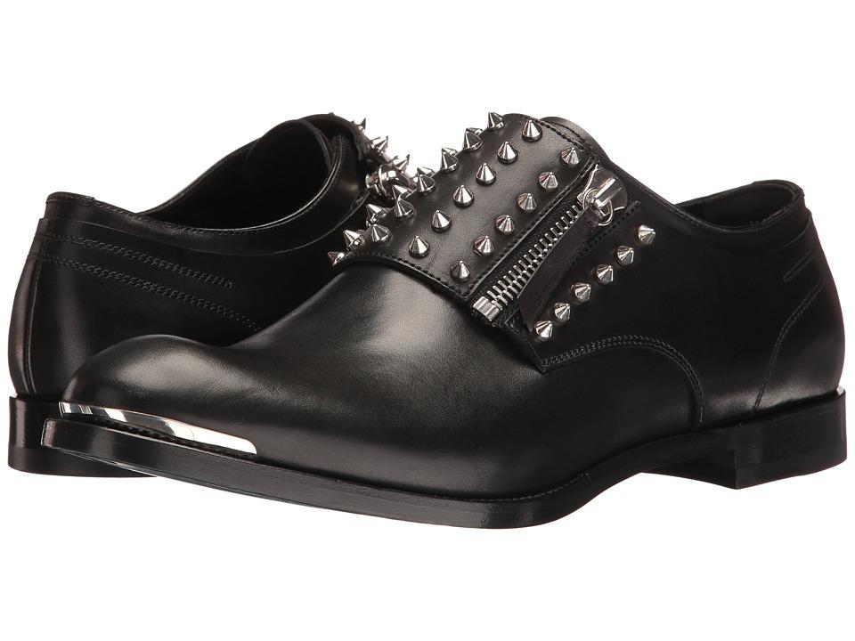 Alexander McQueen Studded Zip Derby (Black) Men