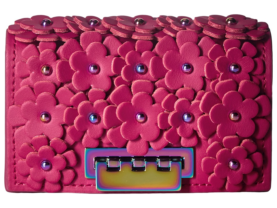 ZAC Zac Posen Earthette Card Case (Magenta) Clutch Handbags
