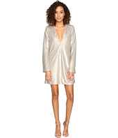 The Jetset Diaries - Gold Diamond Long Sleeve Dress